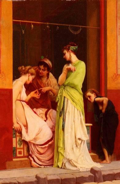 Clarence Rodolphe Une Marchande De Bijoux A Pompeii